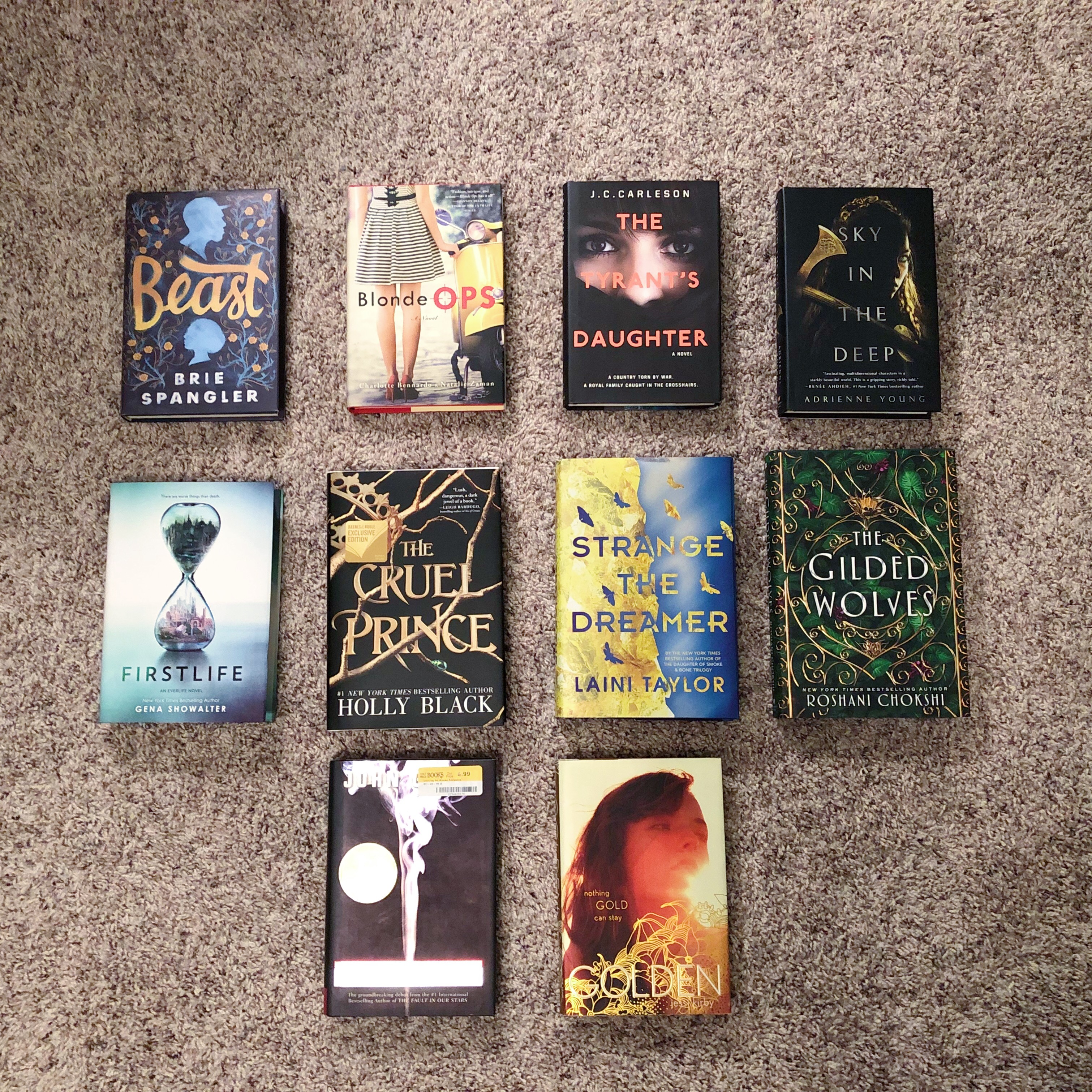 Photo of the covers of the books that had me spellbound